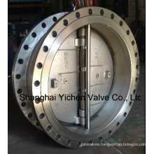 Spring Loaded Dual Plate Flange Stainless Steelcheck Valve (H46)