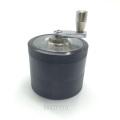 Lightweight Portable Black Aluminum Herbal Grinder with Hand Crank (ES-GD-016)
