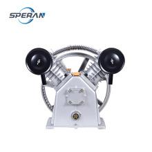 Bomba de compresor de aire con correa eléctrica pequeña de 2 cilindros y 8 bar de 3 hp