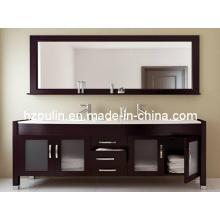 Tocador de baño de madera maciza de doble lavabo (BA-1121)