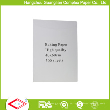 Paquete antiadherente de la caja de las hojas de la guarnición del cacerola de pergamino de los 40cmx60cm