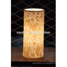 Lámpara de mesa moderna ahorro de energía del hotel del diseño blanco de la decoración