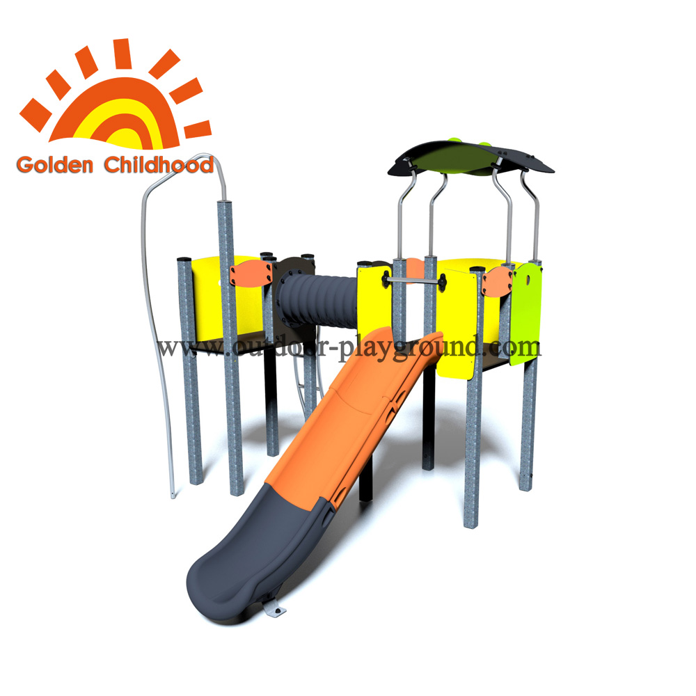 Tube Bridge Slide Outdoor Playground Equipment For Children