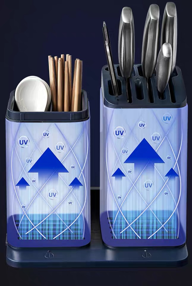 Spoons Holder Container with UV Sanitizing