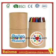 24PCS Crayon в бумажной трубке для канцелярских подарков