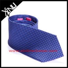 Corbata azul del partido de la impresión del diente del perro