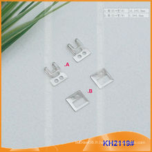 Nouvelle conception de crochets et d'oeillets en laiton pour vêtement KH2119