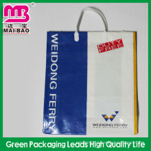 Shopping packaging poly plastic fork ear bags wholesale