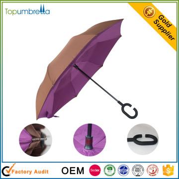 japanese Hot vendre la mode à l'envers parapluie double couche inverse