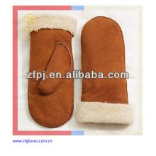 Lady's fashion warm leather mittens glove