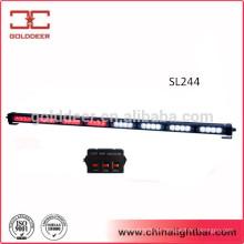 32W levou tráfego direcional luz vermelha piscando luz Bar White (SL244)