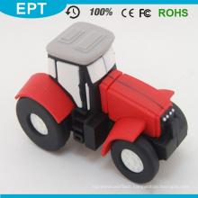 Red PVC Car Shape Customized USB Flash Drive (EP057)