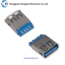 Female 9pin 180 Degree Solder USB 3.0 Connector