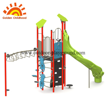 Green Slide Simple Kids Equipment Para Venda