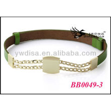 Gold Metal Belts Cyan Western Leather Belts Wholesale With Size 2.55cmW*72cmL BB0049-3