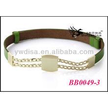 Ouro Cintos De Metal Cian Western Leather Belts Atacado Com Tamanho 2.55cmW * 72cmL BB0049-3