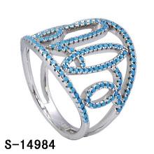 2016 nouvelle conception de bijoux en laiton de mode anneau avec Turquoise (S-14984)