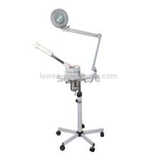 2In1 5X Lámpara de aumento Ozone Salon Mini Facial Steamer