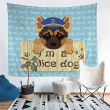 Pure Hand-Painted Cartoon Dog Wall Hanging Tapestry