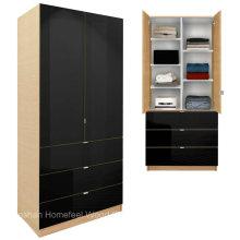 Armario moderno del armario del dormitorio de los muebles con los estantes y los cajones ajustables (HF-EY09041)