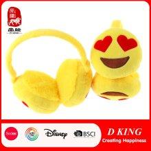 Hot Sale orejera de felpa ajustable ojo de amor orejera de Emoji