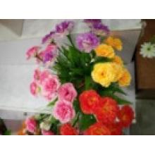 La fleur avec des matériaux de soie beauté de haute qualité