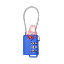 Tsa21105 Cable Combination Lock for Travelling Luggage Bag