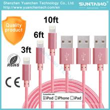 Cable de carga rápida del USB de los datos de la sincronización del precio de fábrica para iPhone6