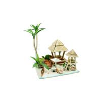 Игрушка для коллекционирования из дерева для глобальных домов-остров Бали