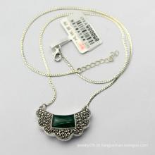 Antique jóias 925 colar de prata esterlina
