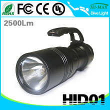 Hochleistungs IP68 55w High Power Handheld versteckte Xenon Taschenlampe Taschenlampe