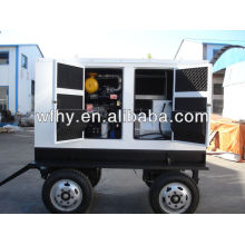 Four wheel mobile generator