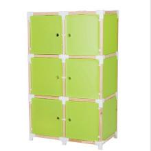 6 portes 3 couleurs disponibles Armoires de placard en plastique DIY (ZH0018)