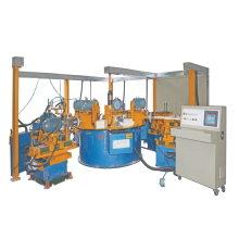 Automatic utensils multi station buffing machine