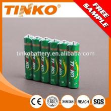 Carbón cinc baterías tamaño aaa r03 con precio barato