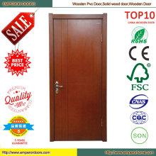 Белые деревянные композитные двери конструкции дерево твердых двери