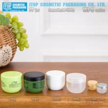 La serie WJ-U 10g 100g 120g y 500g venta de hot-tazón de fuente forma buena calidad monocapa color personalizable redondo crema tarro pp