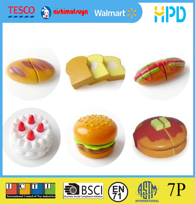 Plastic Cutting Food Toys