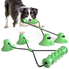 Wholesale pet new product interactive double suction cup serrated teething dog toy