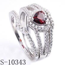 La última joyería de moda Garnet CZ Ring (S-10343)
