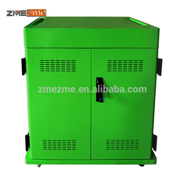 ZMEZME 2 Doors Metal Cloth Laptop/Ipad/Tablet Storage Charging Cabinet/Cart In Office Furniture