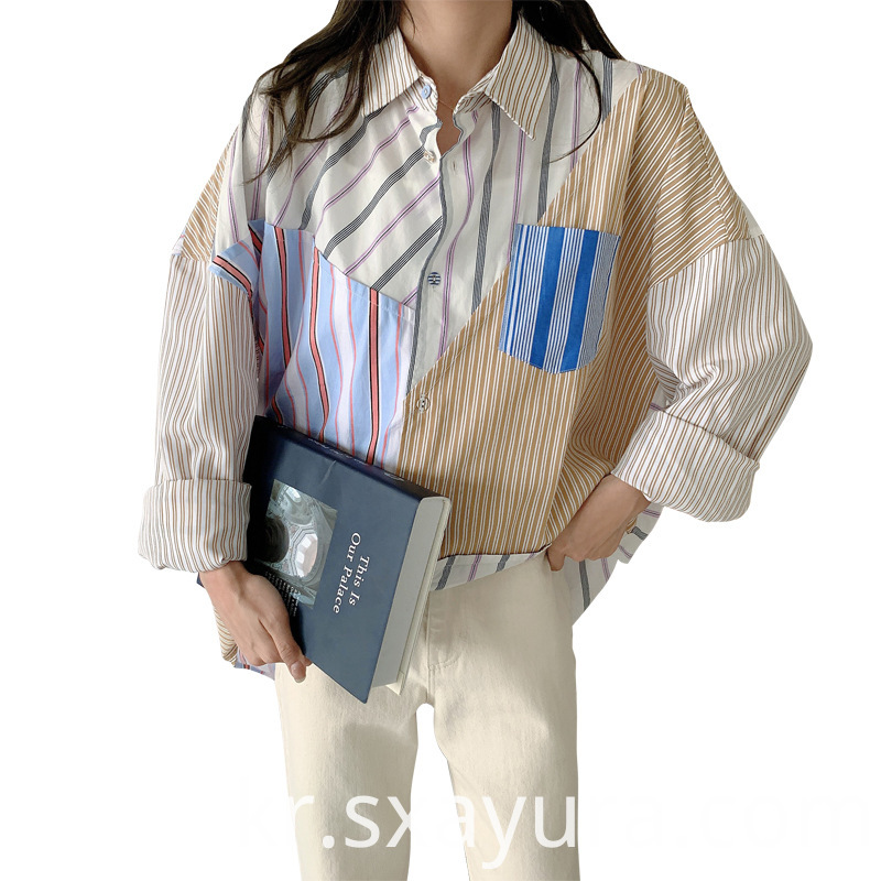 custom high quality Patchwork shirt