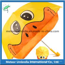 Fancy Duck Shape Cartoon Sun and Rain Kids Children Umbrella