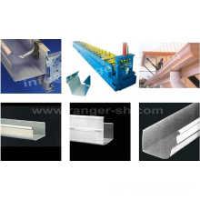 Heißer Verkauf Runde Profile Fallrohr/Fallrohr/Dachrinne/Röhre kalt Stahlrolle bilden Produktionsmaschine