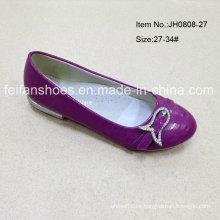 Último niños zapatos solo zapato plano zapatos chica (JH0808 -27)