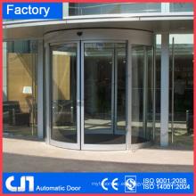 Automatización de puertas de vidrio curvo