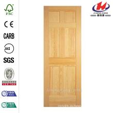 30 pulg. X 80 pulg. Panel de 6 paneles sólidos Pino sin acabar pino claro Plegado sencillo Puerta interior