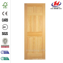 30 polegadas x 80 polegadas Painel sólido de 6 painéis inacabados Clear Pine Single Prehung Porta interior