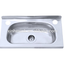 Above counter 304 stainless steel laundry sink cabinet with bracket