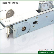 The lock with hool with cross key sliding glass door lock